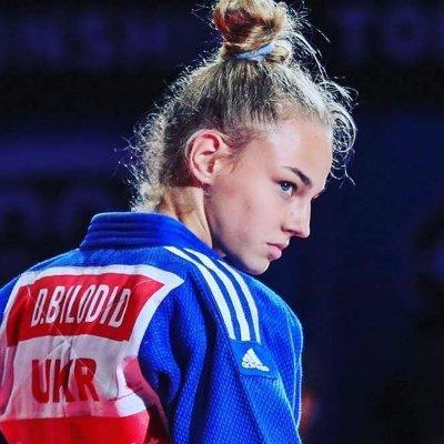 La judoka Daria Bilodid ci mostra il suo triangolo inverso. 1